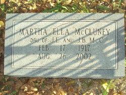 Martha Ella McCluney