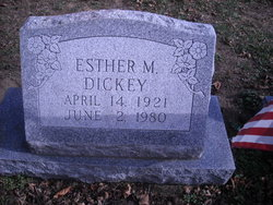 Esther M Dickey