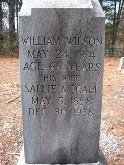 "Sarah J ""Sallie"" <I>McCall</I> Wilson"