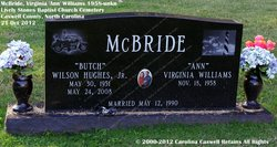 "Virginia Ann ""Ann"" <I>Williams</I> McBride"