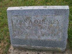 John A O'Henley