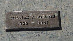 William A Hanson