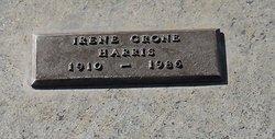 Irene <I>Crone</I> Harris