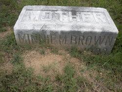 Minnie M <I>Irvin</I> Brown
