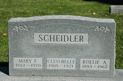 Mary Frances <I>Lewis</I> Scheidler