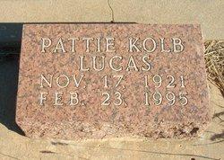Pattie <I>Kolb</I> Lucas