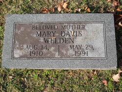 Mary Alice <I>Davis</I> Welden