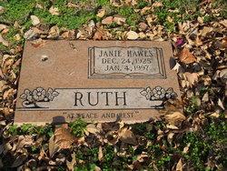 Janie <I>Hawes</I> Ruth