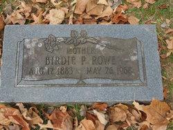 Birdie P Rowe