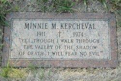 Minnie M Kercheval