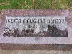 Retta <I>Maughan</I> Ashton