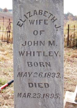 Elizabeth Jane <I>Barrington</I> Whitley