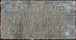 Mattie Eleanor <I>Radcliff</I> Agee