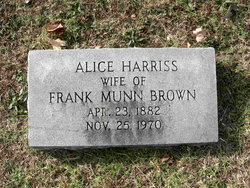 Alice <I>Harriss</I> Brown