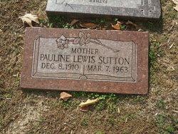 Pauline <I>Lewis</I> Sutton
