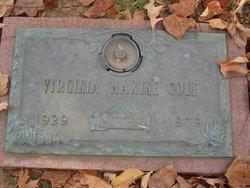Virginia Maxine <I>White</I> Cole