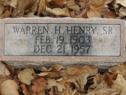 Warren Harold Henry, Sr