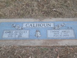 """Zadoc Abell """"ZA"""" Calhoun"""