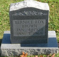 Bernice Alene <I>Fox</I> Brown