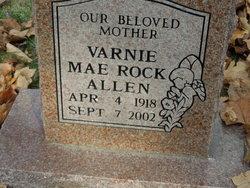 Varnie Mae <I>Rock</I> Allen