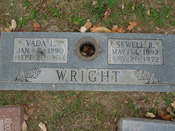Vada L <I>Biggers</I> Wright