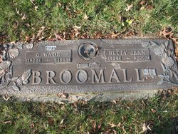 Betty Jean <I>Wise</I> Broomall