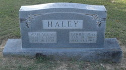 Carrie May <I>Owen</I> Haley