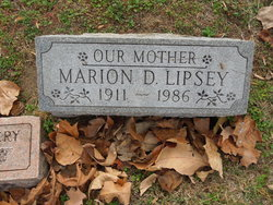 Marion D Lipsey