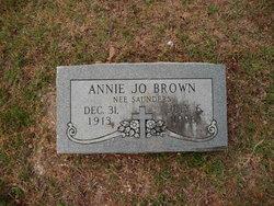 Annie Jo <I>Saunders</I> Brown