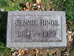 """Jane Augusta """"Jennie"""" <I>Calvert</I> Hinds"""