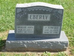 "Mary Ann ""Mollie"" <I>Riedel</I> Eberly"