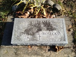 Charlotte <I>Rosecky</I> Williams