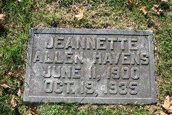 Jeanette <I>Allen</I> Havens