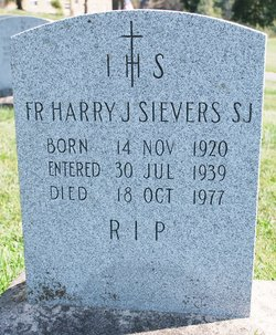 Fr Harry Joseph Sievers