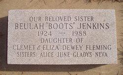 "Beulah Francis ""Boots"" <I>Fleming</I> Jenkins"