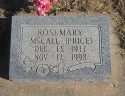 Rosemary <I>McCall</I> Price