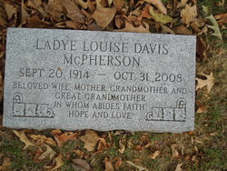 Ladye Louise <I>Davis</I> McPherson
