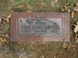 """Orda """"Orda Belle"""" <I>Lewis</I> Simmons"""