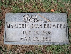 Marjorie <I>Dean</I> Browder