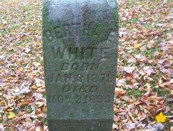 Bertha E White
