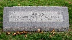 "Susan ""Dolly"" <I>Timms</I> Harris"