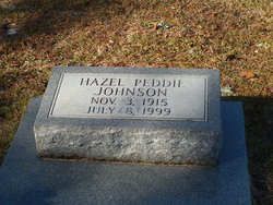 Hazel <I>Peddie</I> Johnson