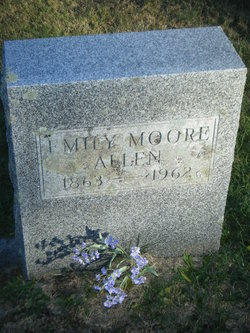 """Emily G """"Emma"""" <I>Moore</I> Allen"""