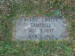 Bessie <I>Crotts</I> Campbell