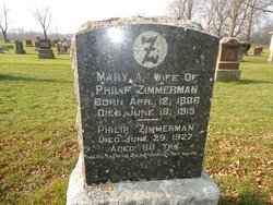 Mary Ann <I>Gilmore</I> Zimmerman
