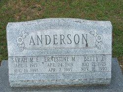 Sarah Martha E Anderson