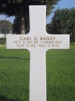 Pvt Carl G Bailey