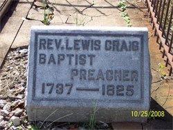 Rev Lewis Craig