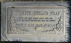 Ruby Ruth <I>Fields</I> Wray