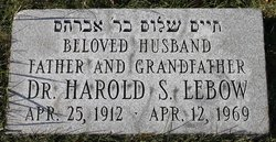 Dr Harold S Lebow